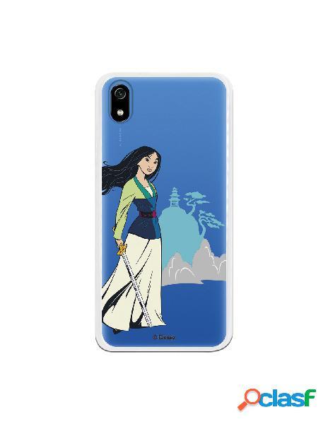 Funda para Xiaomi Redmi 7A Oficial de Disney Mulan Templo -