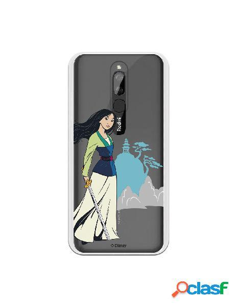 Funda para Xiaomi Redmi 8 Oficial de Disney Mulan Templo -