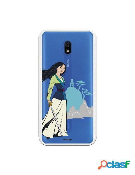 Funda para Xiaomi Redmi 8A Oficial de Disney Mulan Templo -