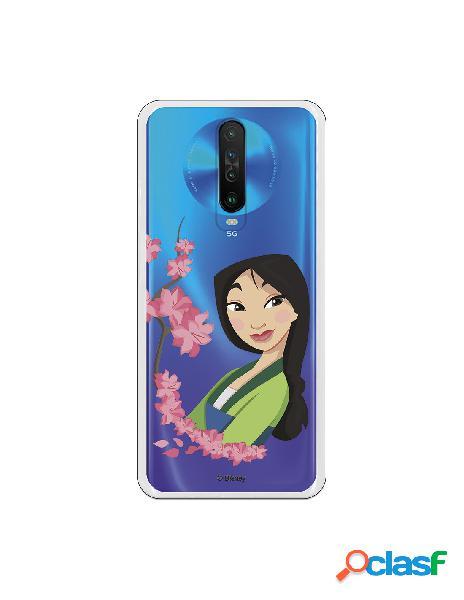 Funda para Xiaomi Redmi K30 Oficial de Disney Mulan Amapolas