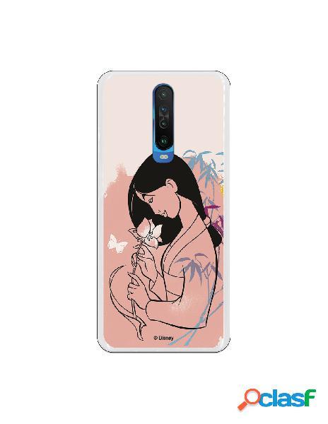 Funda para Xiaomi Redmi K30 Oficial de Disney Mulan Flor de