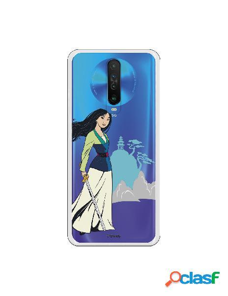 Funda para Xiaomi Redmi K30 Oficial de Disney Mulan Templo -