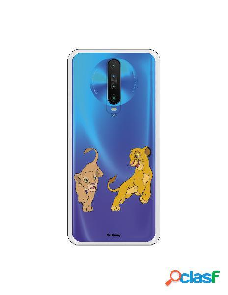Funda para Xiaomi Redmi K30 Oficial de Disney Simba y Nala