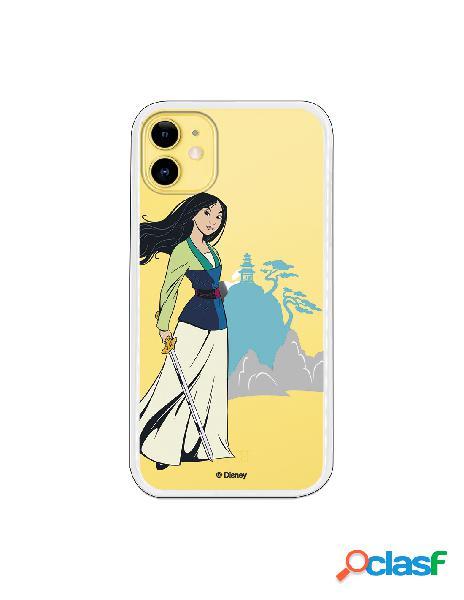 Funda para iPhone 11 Oficial de Disney Mulan Templo - Mulan