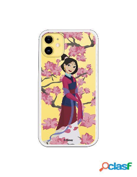 Funda para iPhone 11 Oficial de Disney Mulan Vestido Granate