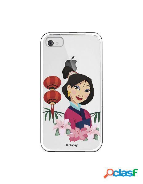 Funda para iPhone 4 Oficial de Disney Mulan Rostro - Mulan