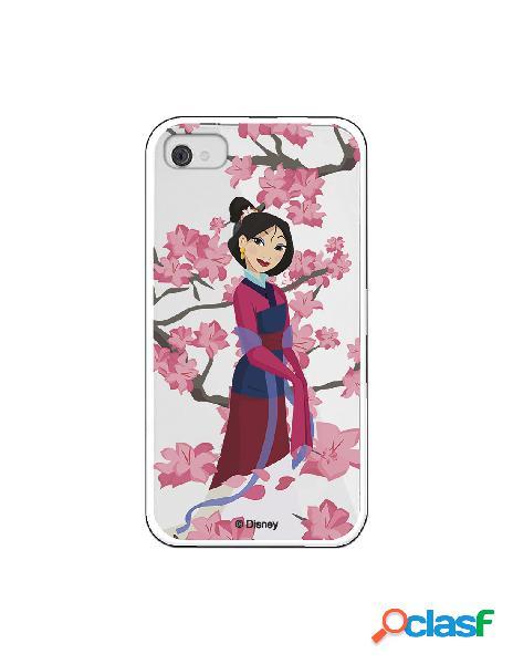 Funda para iPhone 4 Oficial de Disney Mulan Vestido Granate