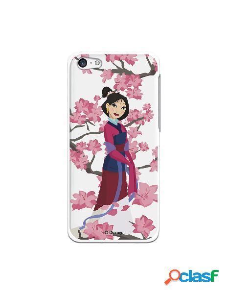 Funda para iPhone 5C Oficial de Disney Mulan Vestido Granate