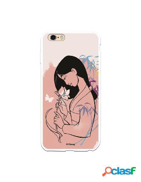 Funda para iPhone 6 Plus Oficial de Disney Mulan Flor de