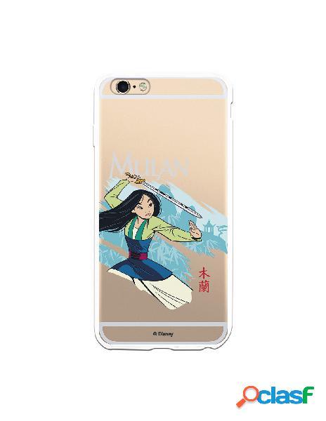 Funda para iPhone 6 Plus Oficial de Disney Mulan Tipografia