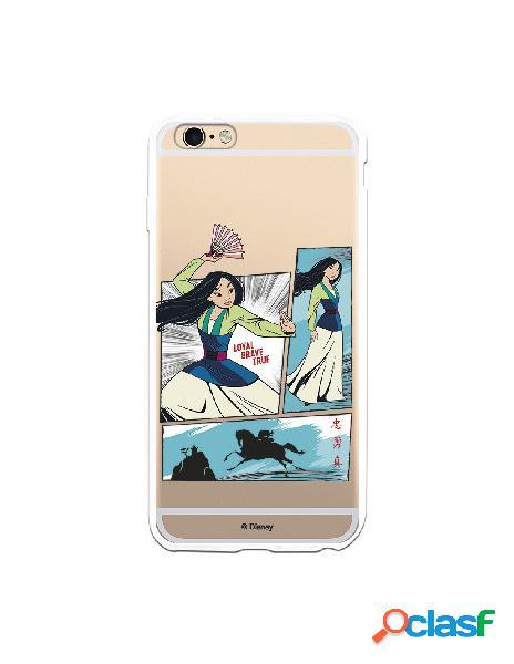Funda para iPhone 6 Plus Oficial de Disney Mulan Viñetas -