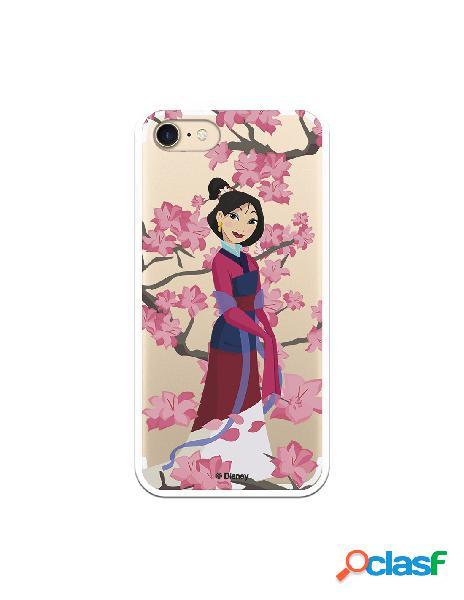 Funda para iPhone 7 Oficial de Disney Mulan Vestido Granate