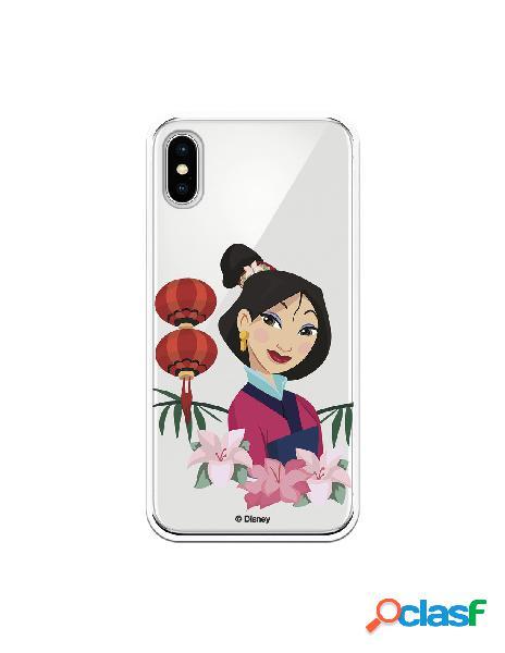 Funda para iPhone X Oficial de Disney Mulan Rostro - Mulan