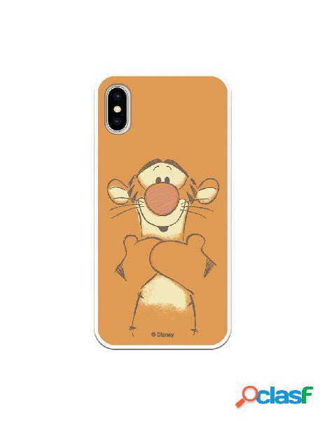 Funda para iPhone X Oficial de Disney Tigger Sonrisas -