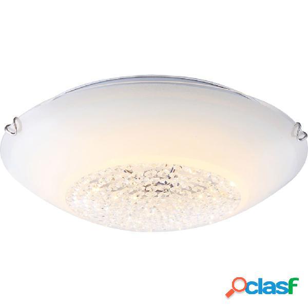 GLOBO Lámpara LED de techo DELPHI vidrio blanco 4041466
