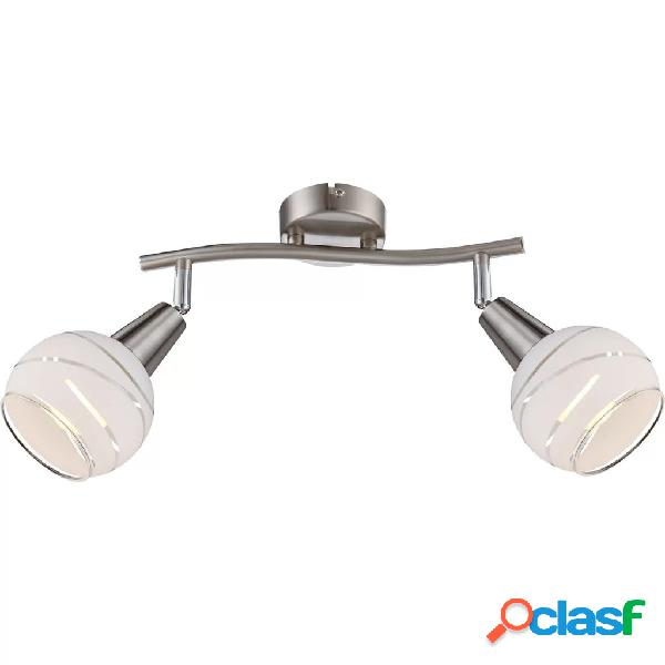 GLOBO Lámpara focal LED con 2 bombillas ELLIOTT níquel