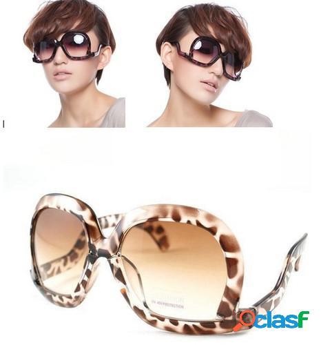 Gafas de sol invertidas leopardo marrones