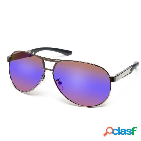 Gafas de sol polarizadas de HD visión de marco metálico