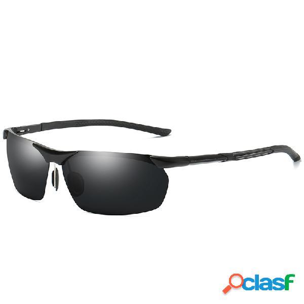 Gafas de sol polarizadas de magnesio de aluminio para hombre