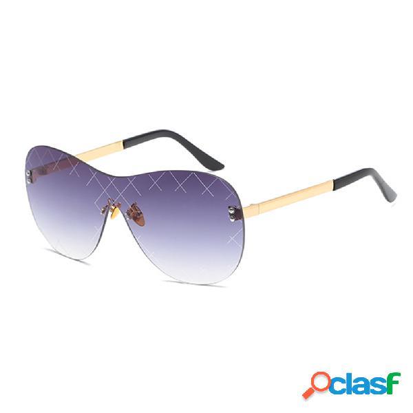 Gafas de sol sin marco Mujer y hombre Lente gafas de sol con