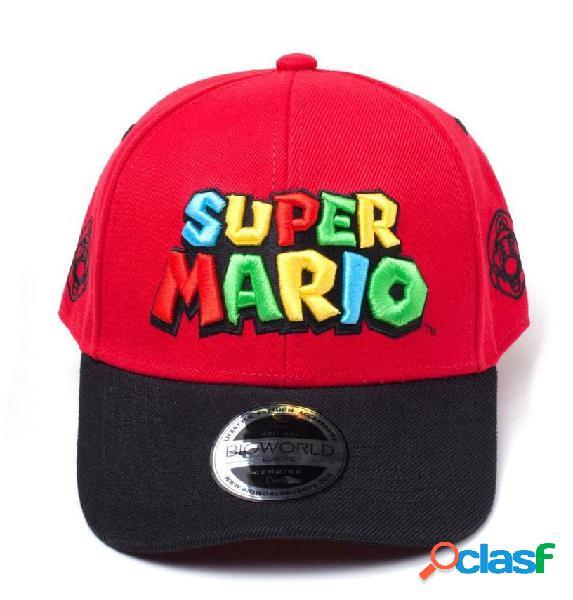 Gorra Super Mario Logo