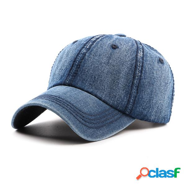 Gorra casual lavada de algodón de viaje Boina retra de