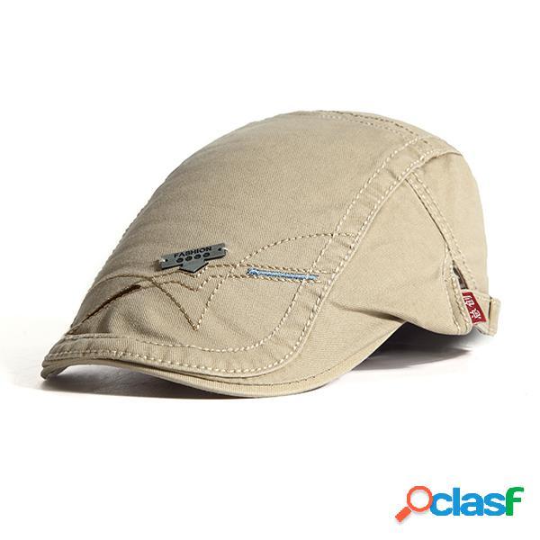 Gorra clásica plegable de algodón de color sólido con
