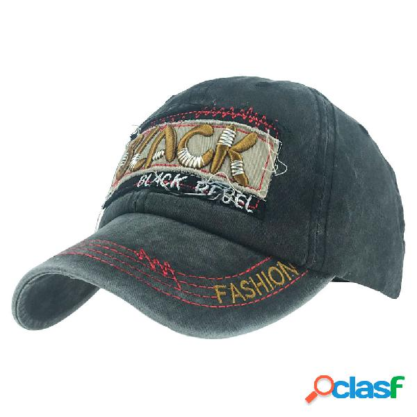Gorra de béisbol bordada de algodón lavado para hombres al