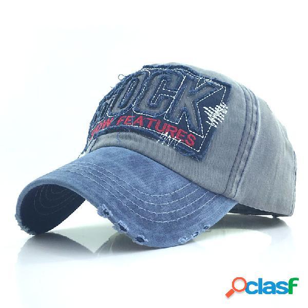 Gorra de béisbol de algodón lavado para hombres al aire