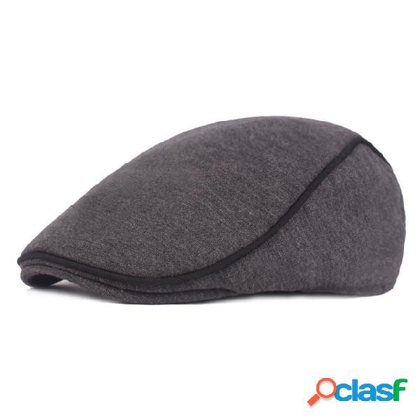Gorra de lana boina para hombre Newsboy Sombrero Algodón