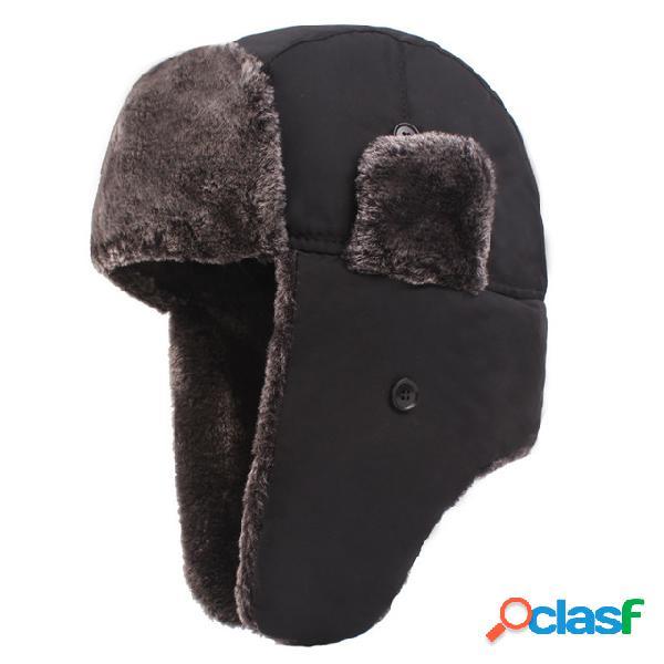 Gorra de trampero para hombre, gorra para nieve,