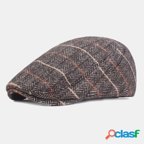 Gorras de boina de celosía de algodón lavado para hombre