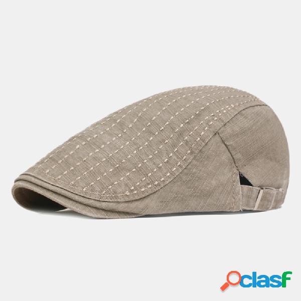 Gorras de boina de colores de algodón lavado para hombre al