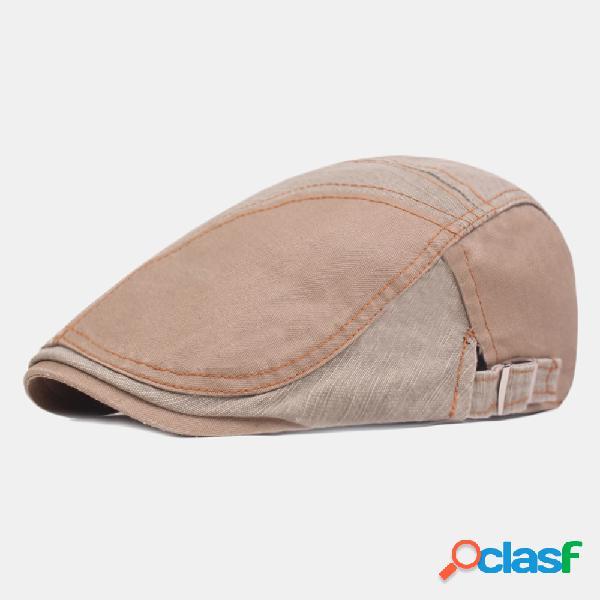 Gorras de boina de colores de patchwork de algodón lavado