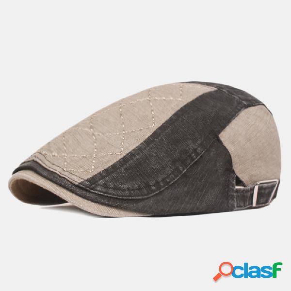 Gorras de boina de colores de retazos de algodón para