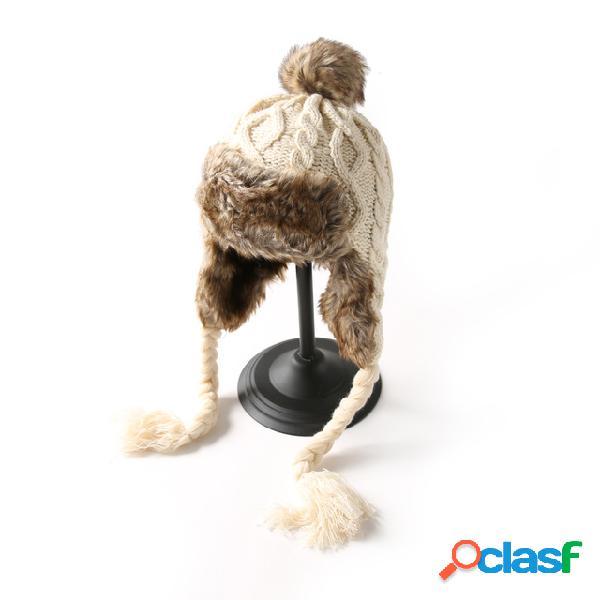 Gorro de lana de punto Sombrero Gorro de lana cálido lindo