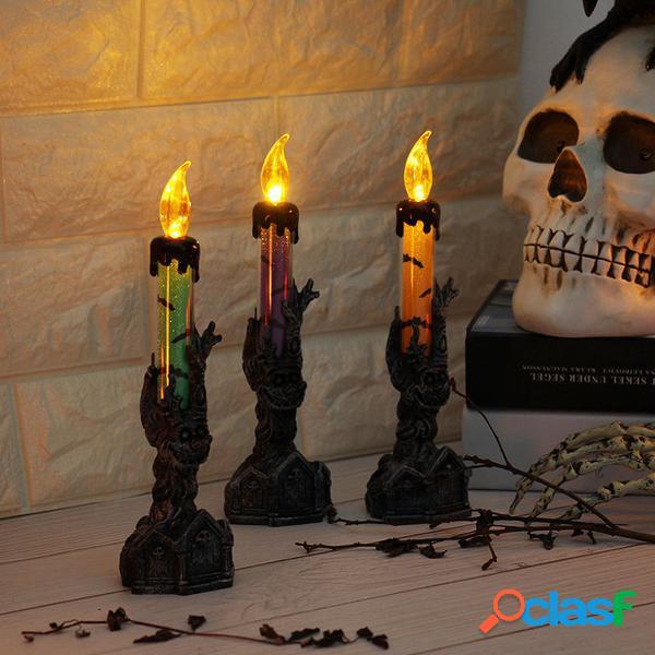 Halloween Cráneo Soporte de mano esquelético LED