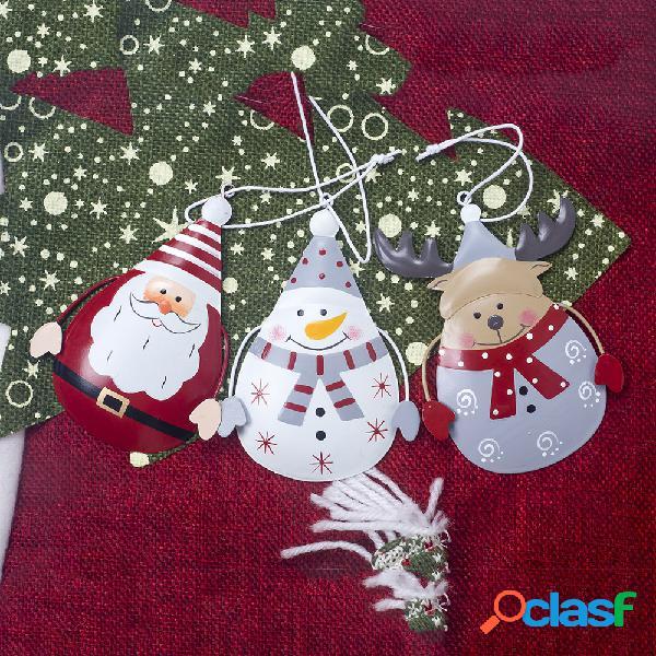Hierro forjado Navidad Papá Noel Alce Árbol de Navidad