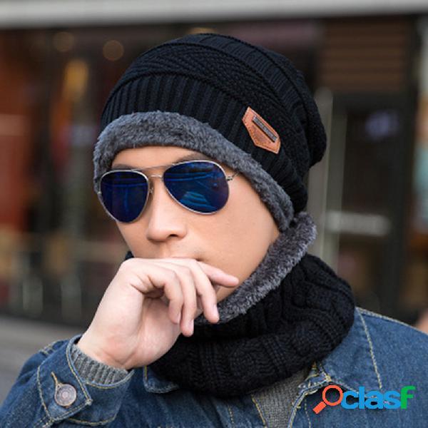 Hombre Mujer Invierno Plus Lana de punto cálido Sombrero