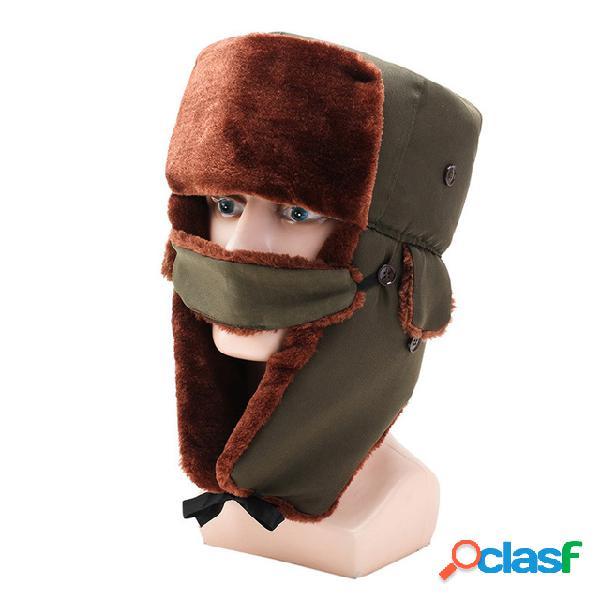 Hombre cálido y a prueba de viento al aire libre Sombrero