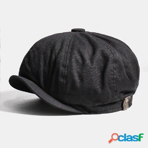 Hombres Algodón Newsboy Cap Cabbie Lvy Flat Sombrero