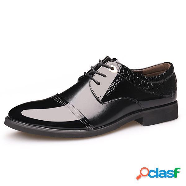 Hombres Cap Toe Classic zapatos puntiagudos de negocios