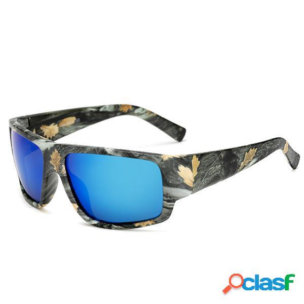 Hombres Deportes Camuflaje HD gafas de sol cuadradas