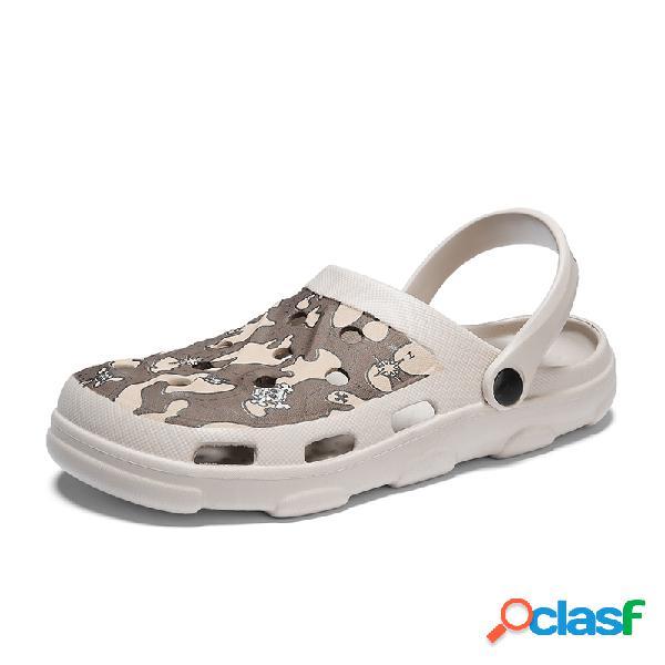 Hombres EVA Hole Peso ligero zapatillas Playa Casual