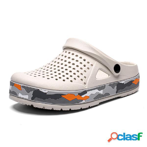 Hombres EVA Hole Transpirable Peso ligero Playa zapatillas
