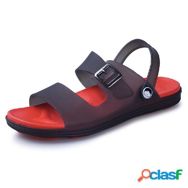 Hombres EVA Playa Hebilla ligera de metal Casual zapatillas