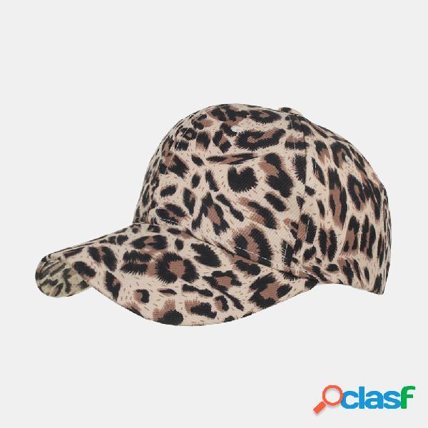 Hombres Mujer Gorra de béisbol de leopardo transpirable Sun