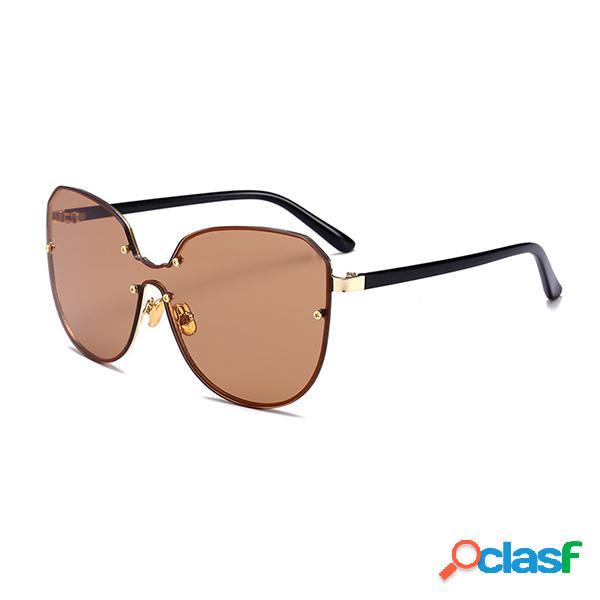 Hombres Mujer HD Gafas de sol Face Thin Big Caja de Gafas