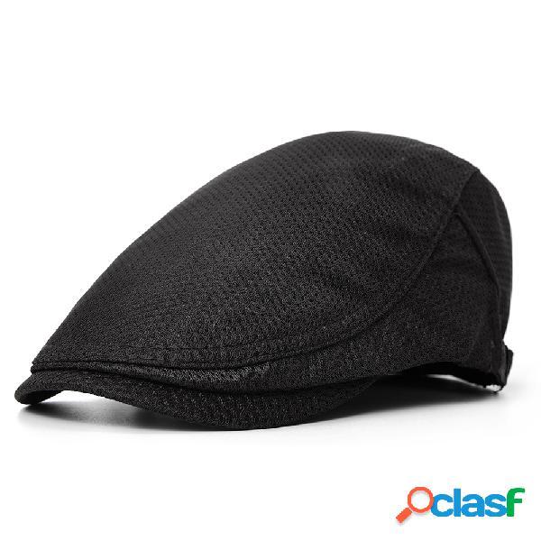 Hombres Mujer Retro poliéster transpirable Boina Sombrero