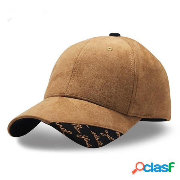 Hombres Mujer gorra de béisbol de patchwork de piel de